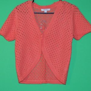 Liz Claiborne Womens XS Orange Short Slv Top NEW